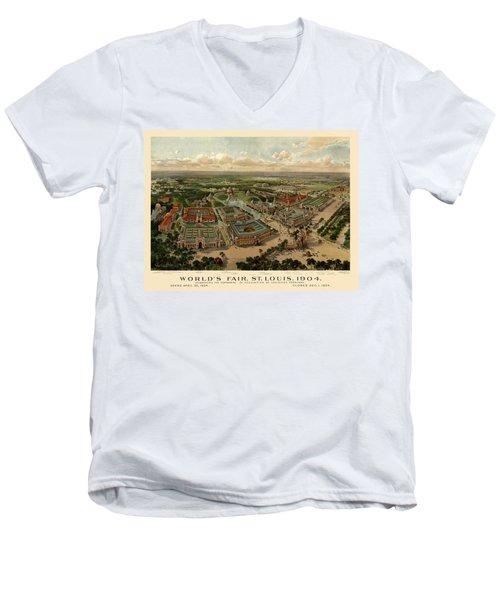 St. Louis Worlds Fair 1904 Men's V-Neck T-Shirt