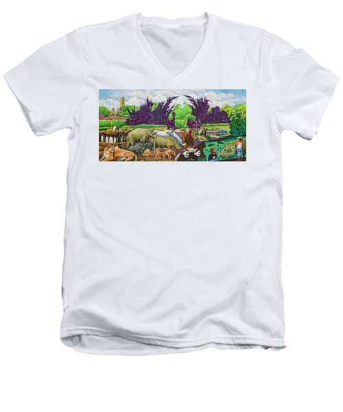 St. Louis Zoo Men's V-Neck T-Shirt