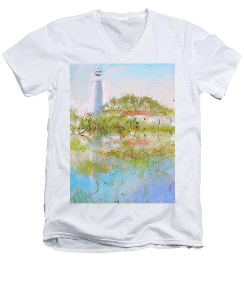 St Marks Lighthouse Men's V-Neck T-Shirt