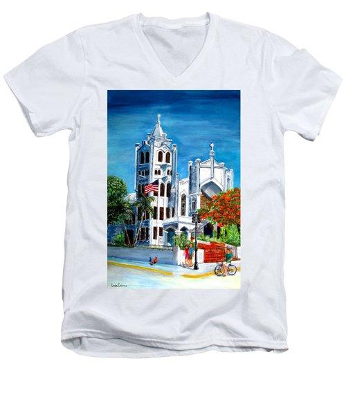 St. Paul's Church  Men's V-Neck T-Shirt