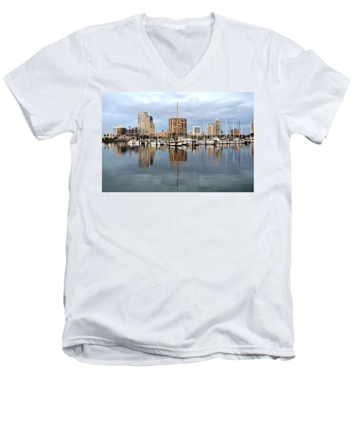St Petersburg Marina Men's V-Neck T-Shirt