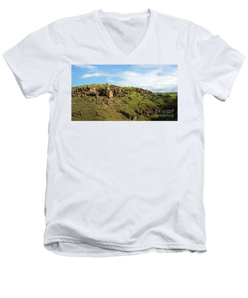 St. Stepanos Church At Sunrise, Armenia Men's V-Neck T-Shirt