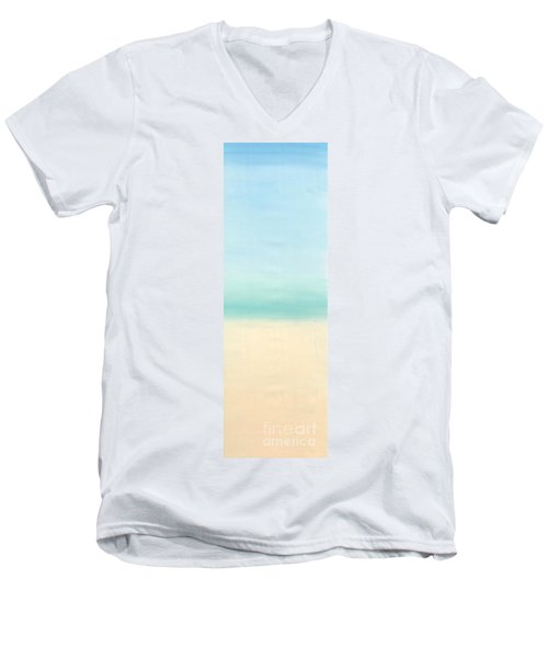 St Thomas #1 Seascape Landscape Original Fine Art Acrylic On Canvas Men's V-Neck T-Shirt
