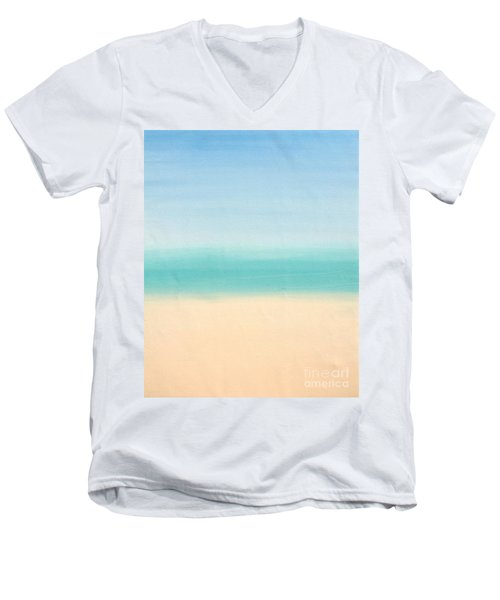 St Thomas #3 Seascape Landscape Original Fine Art Acrylic On Canvas Men's V-Neck T-Shirt