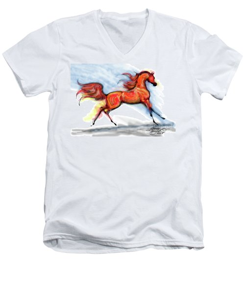 Staceys Arabian Horse Men's V-Neck T-Shirt