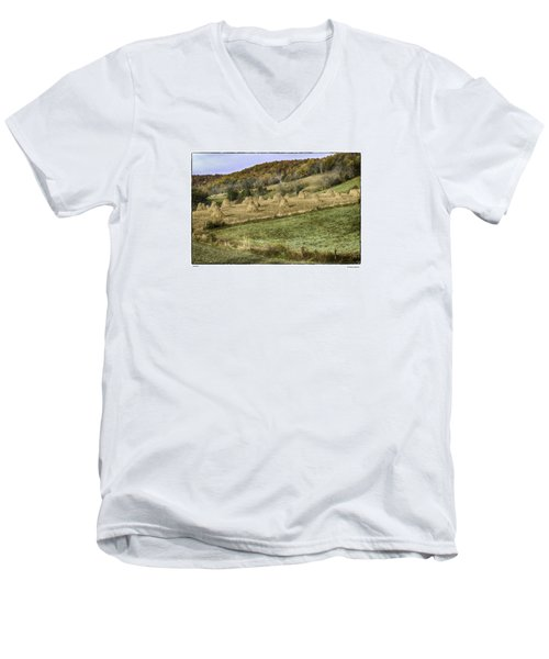 Men's V-Neck T-Shirt featuring the photograph Stacked by R Thomas Berner
