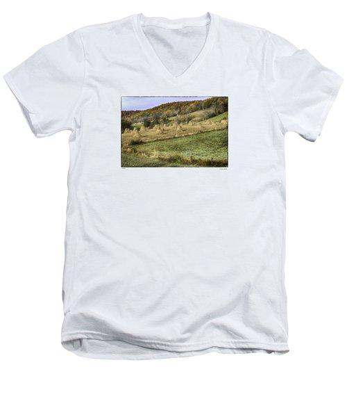Stacked Men's V-Neck T-Shirt by R Thomas Berner