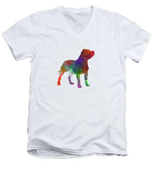 Staffordshire Bull Terrier In Watercolor Men's V-Neck T-Shirt