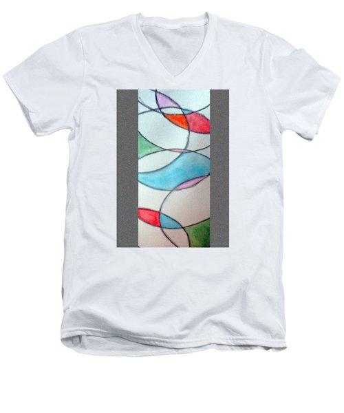 Stain Glass Men's V-Neck T-Shirt by Loretta Nash