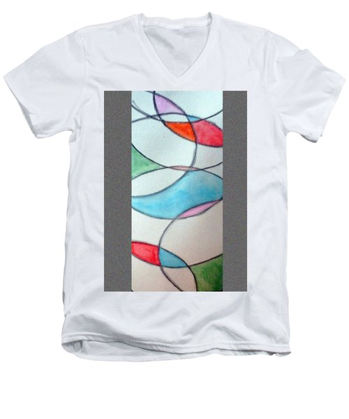Stain Glass Men's V-Neck T-Shirt