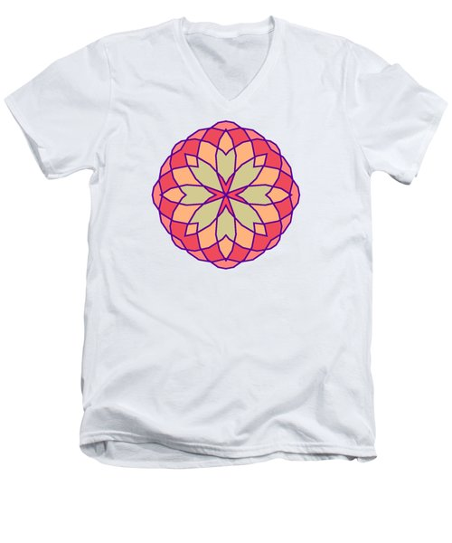 Men's V-Neck T-Shirt featuring the digital art Stained Glass by Methune Hively