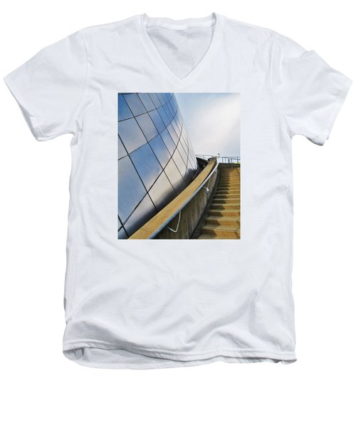 Staircase To Sky Men's V-Neck T-Shirt by Martin Cline