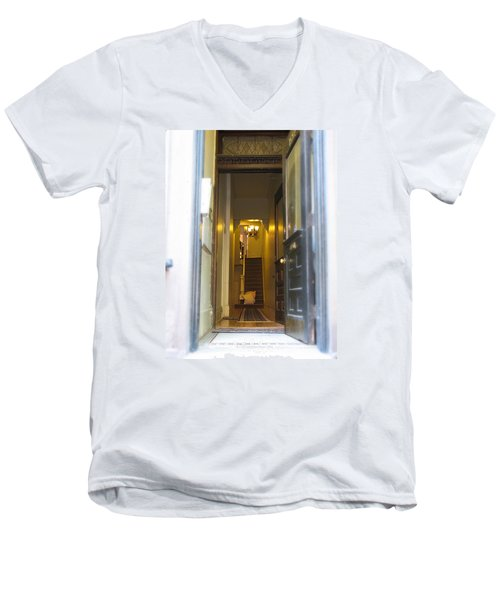 Stairs Men's V-Neck T-Shirt by Christopher Woods
