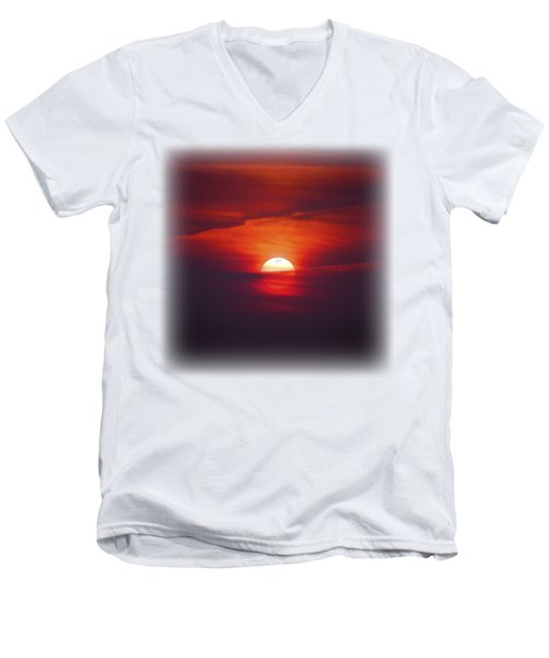 Stairway To Heaven On Transparent Background Men's V-Neck T-Shirt by Terri Waters