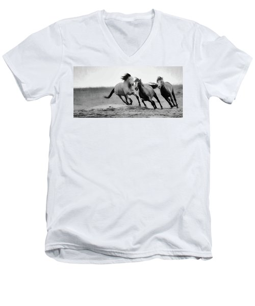 Stallion  Men's V-Neck T-Shirt