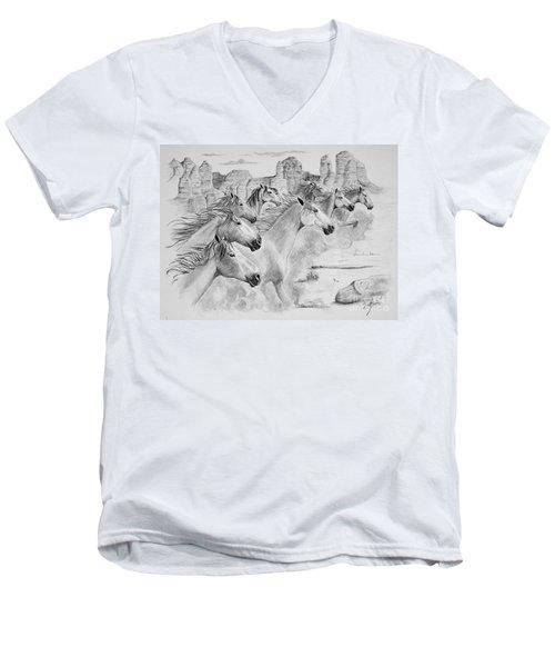 Stampede In Sedona Men's V-Neck T-Shirt