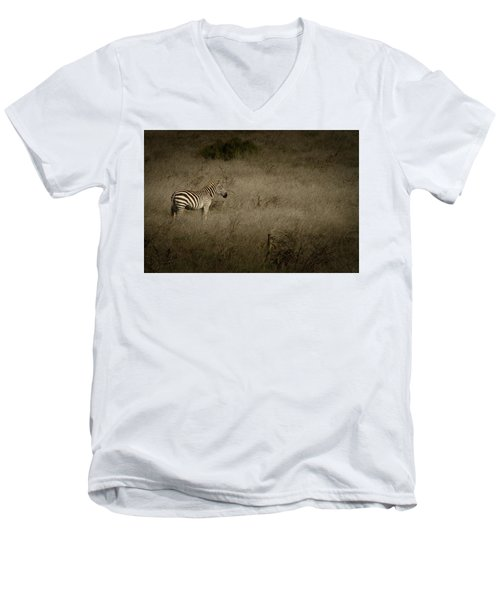 Standing In The Light Men's V-Neck T-Shirt by Roger Mullenhour
