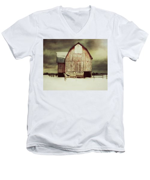 Men's V-Neck T-Shirt featuring the photograph Standing Tall by Julie Hamilton