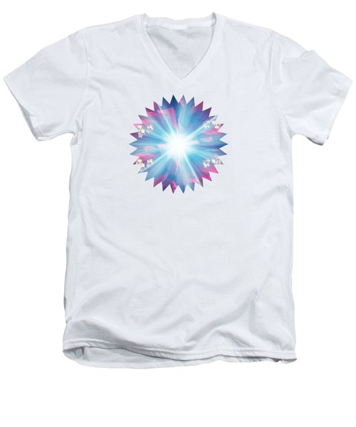 Star Burst Men's V-Neck T-Shirt