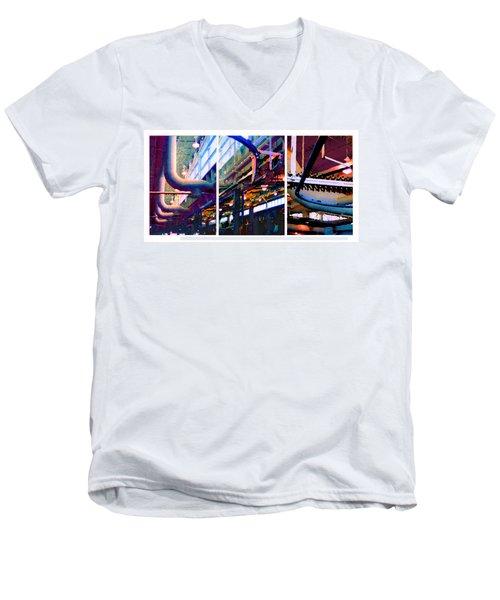 Star Factory Men's V-Neck T-Shirt by Steve Karol