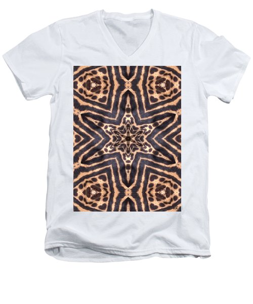 Star Of Cheetah Men's V-Neck T-Shirt