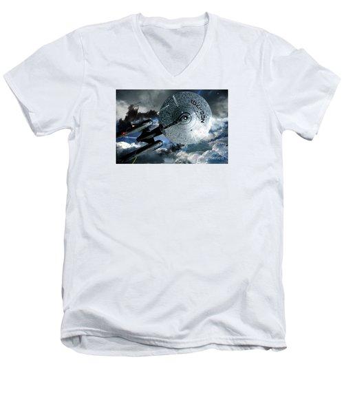 Star Trek Into Darkness, Original Mixed Media Men's V-Neck T-Shirt