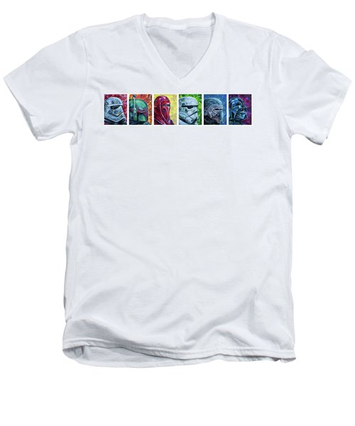 Star Wars Helmet Series - Panorama Men's V-Neck T-Shirt