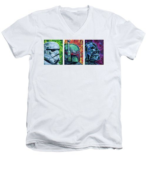 Star Wars Helmet Series - Triptych Men's V-Neck T-Shirt