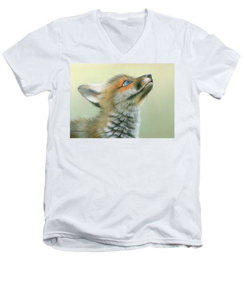 Starry Eyes Men's V-Neck T-Shirt by Mike Brown