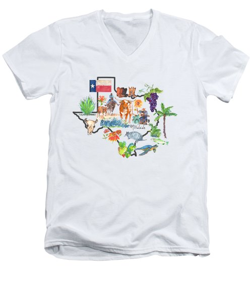 State Of Texas As I Know It Men's V-Neck T-Shirt
