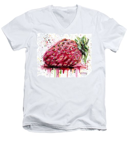 Stawberry 1 Men's V-Neck T-Shirt