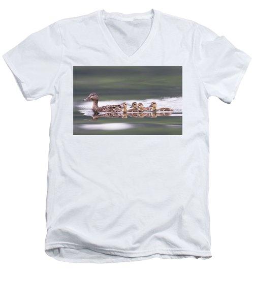 Stay In Line... Men's V-Neck T-Shirt