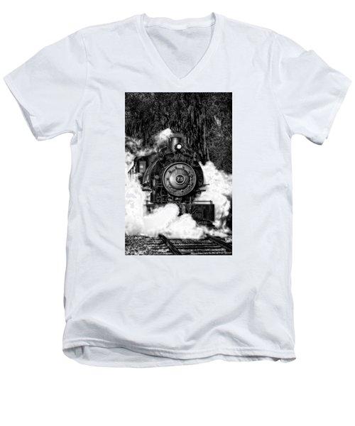Steam Engine Jan 2016 In Hdr Men's V-Neck T-Shirt by Michael White