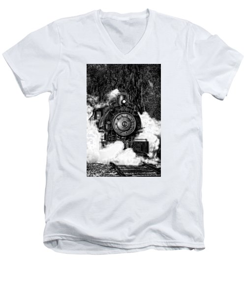 Steam Engine Jan 2016 In Hdr Men's V-Neck T-Shirt