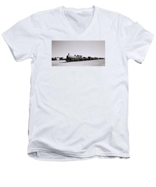 Steam Trains Men's V-Neck T-Shirt by Shaun Higson