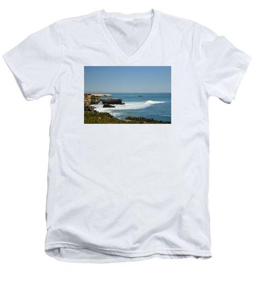 Steamer Lane, Santa Cruz Men's V-Neck T-Shirt