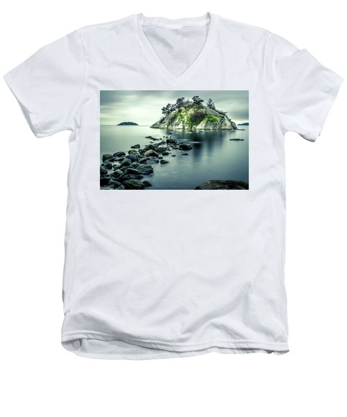 Steely Day At Whytecliff Men's V-Neck T-Shirt