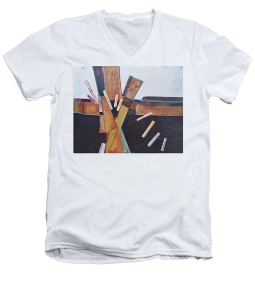 Stepping Up Men's V-Neck T-Shirt by Nancy Jolley