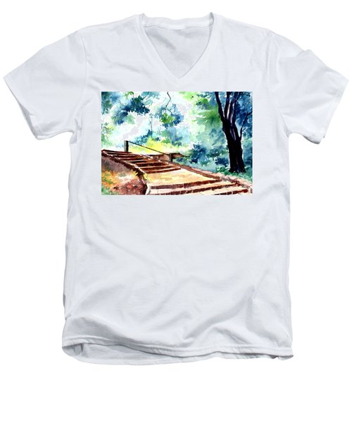 Steps To Eternity Men's V-Neck T-Shirt