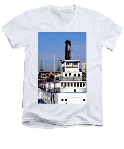 Sternwheeler, Portland Or  Men's V-Neck T-Shirt