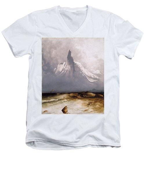 Stetind In Fog Men's V-Neck T-Shirt