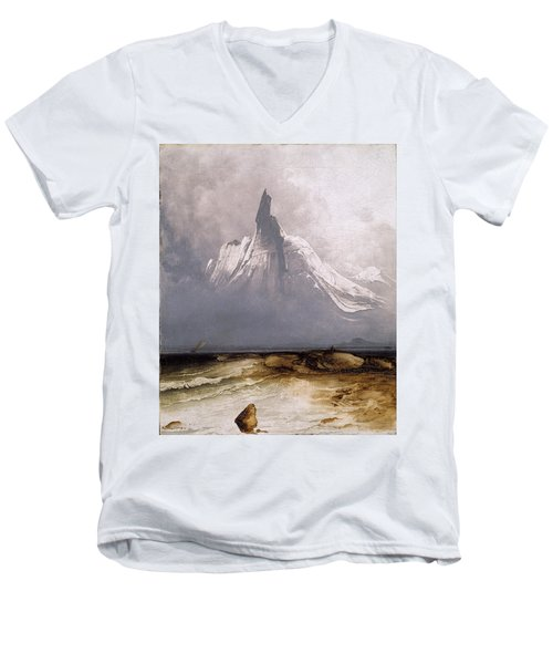 Stetind In Fog Men's V-Neck T-Shirt