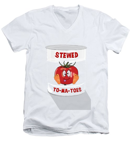 Stewed To Ma Toes Men's V-Neck T-Shirt