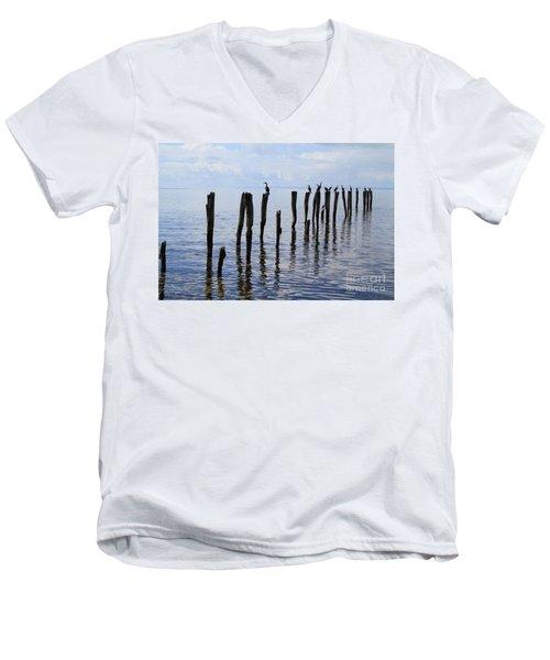Sticks Out To Sea Men's V-Neck T-Shirt