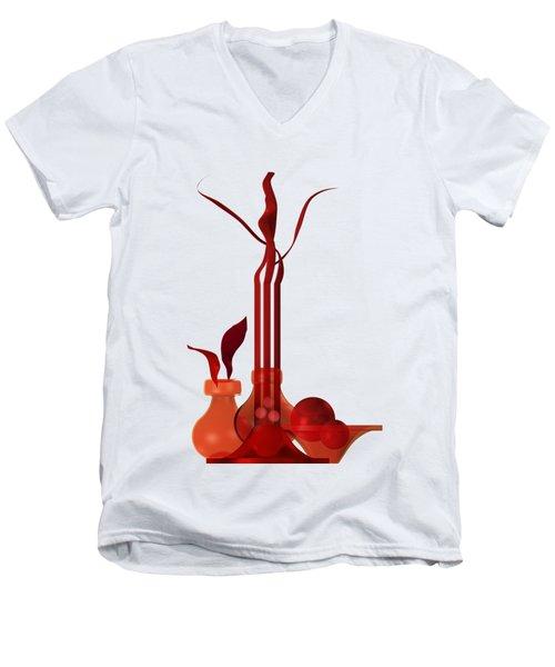 Still Life In Red Men's V-Neck T-Shirt