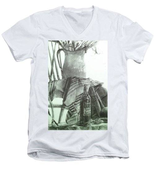 Still Life Men's V-Neck T-Shirt by Roro Rop