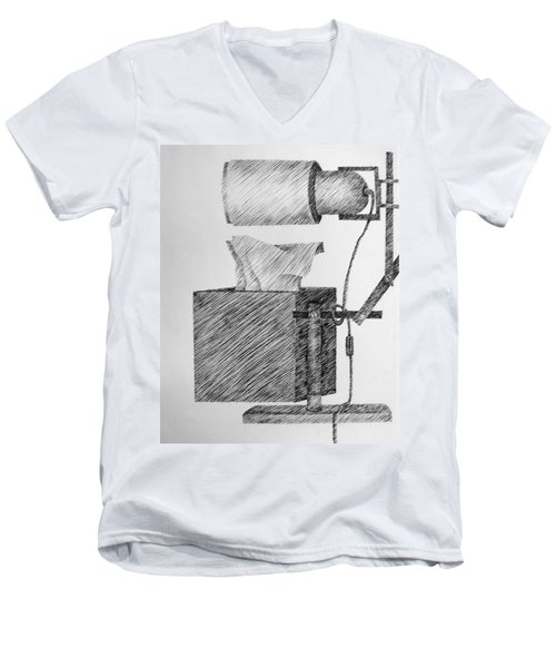Still Life With Lamp And Tissues Men's V-Neck T-Shirt