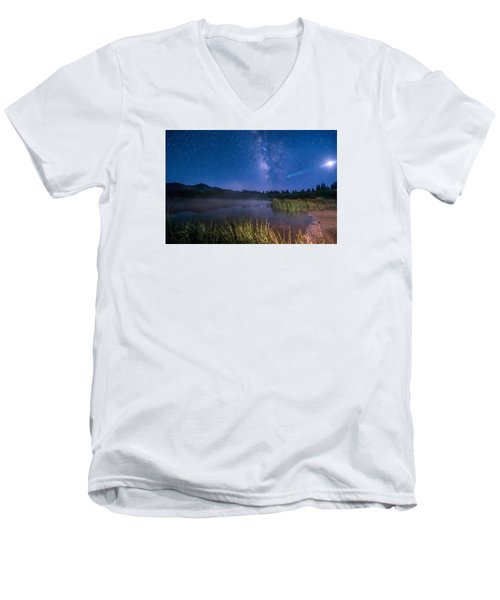 Still Night At Upper Molas Lake Men's V-Neck T-Shirt