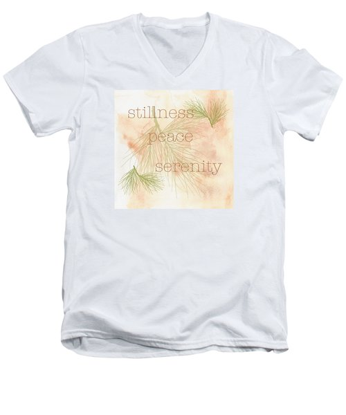 Stillness  Men's V-Neck T-Shirt by Kandy Hurley
