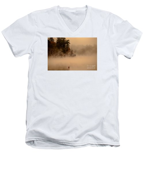 Stillness Of Autumn Men's V-Neck T-Shirt